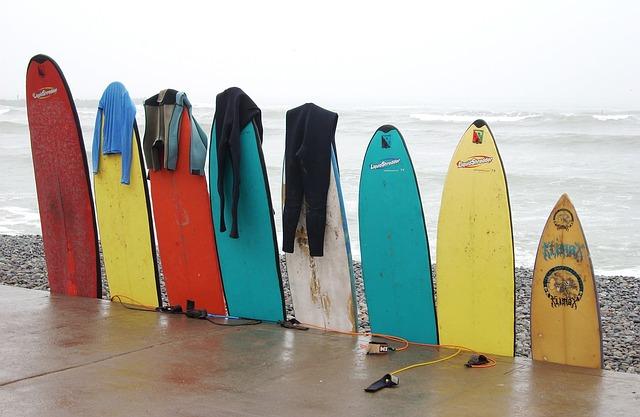 tablas surf colores